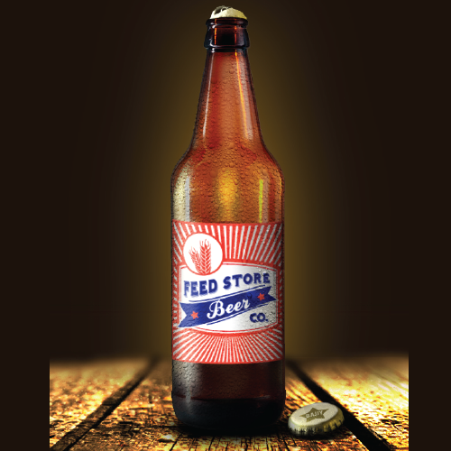 Unsold craft beer label.