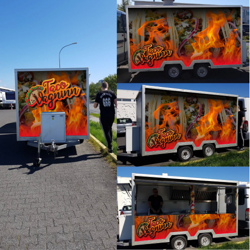 Logo and cr wrap design created for taco van