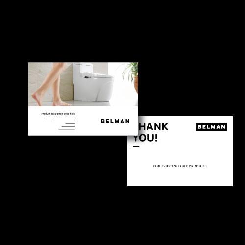 Belman postcard design!