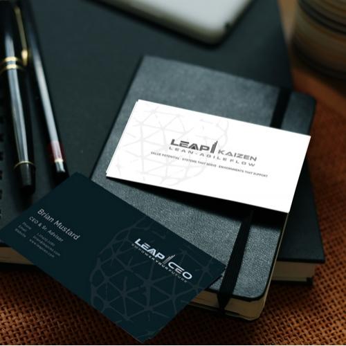 Kaizen construction business card design!