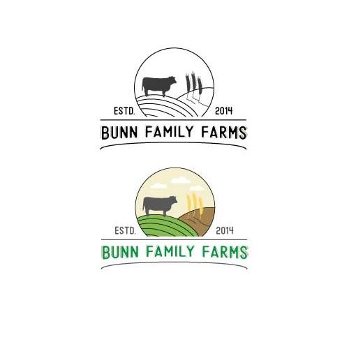 Line art farm logo..