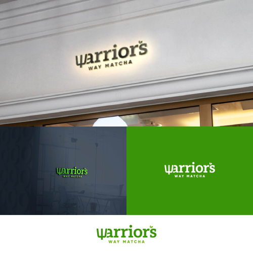Warriors Way Matcha logo design