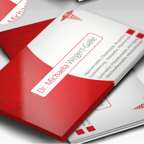 Business Card Design for a Doctor.