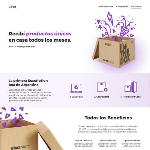 Landing Page - uBox