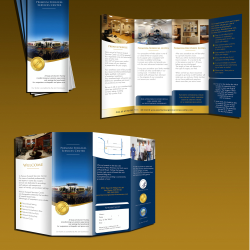 Tri fold brochure for Surgical Center