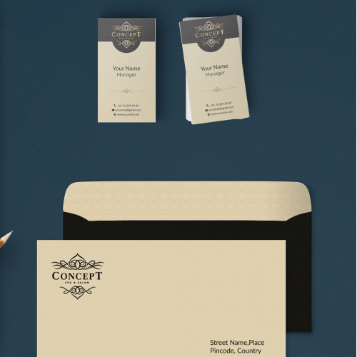 Stationary design for Cosmetic salon and spa