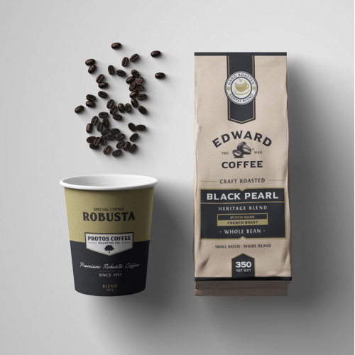 Packaging and label design for coffee
