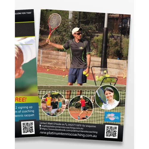 flyer design A5 coach tennis in AU