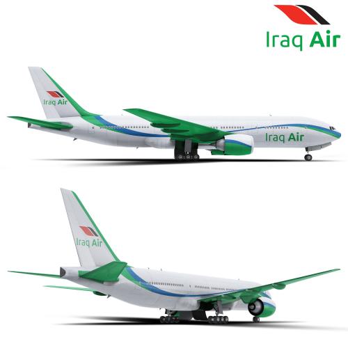 full wrap aircraft design for Iraq Air