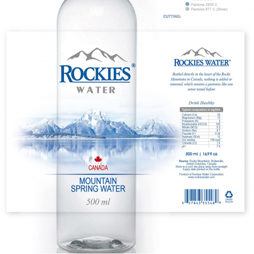 label design for Canadian Mountain Spring Water