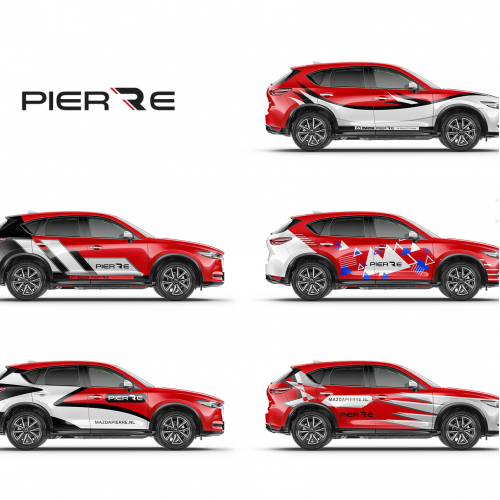 car wrap design for Mazda_Pierre-www.mazdapierre.nl