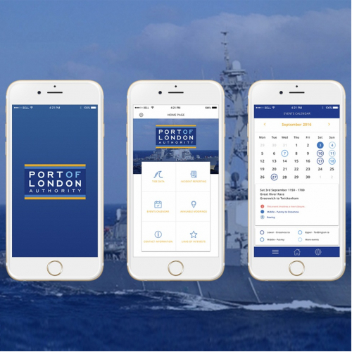 APP for IPhone and Android_Port of London