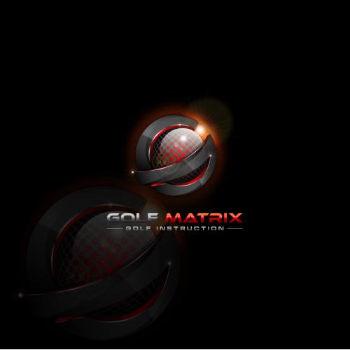 3d logo proposal for Golf Matrix