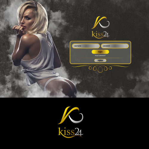 logo and landing page design for kiss24