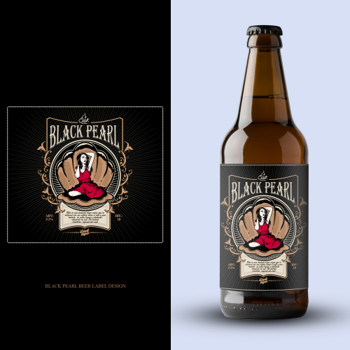 beer label design for Black Pearl