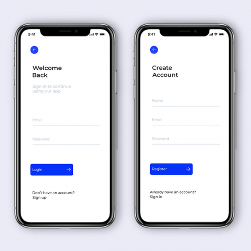 Sign in /Sign Up App Concept