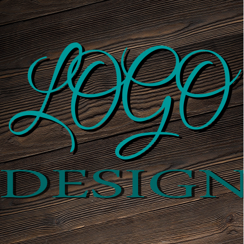 hand write style text logo