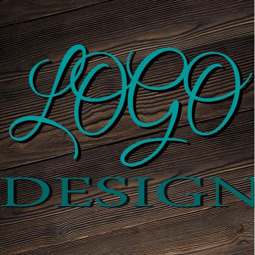 hand write style text logo