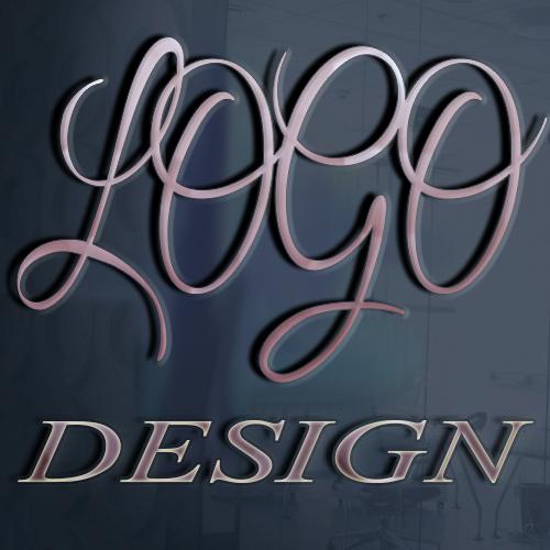 unique text logo