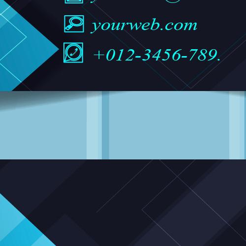 Technical business card design