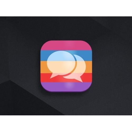 Color Message App icon