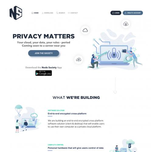 Node Society website