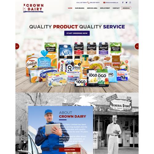 CrownDairy website