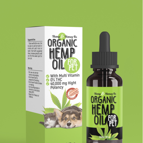 Hemp for pet box and label design