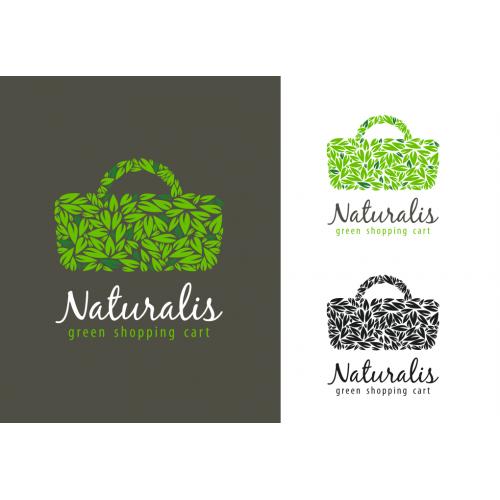 Naturalis green cart logo design
