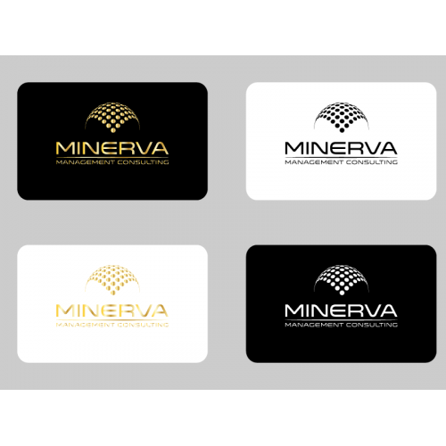 minerva business card and logo design