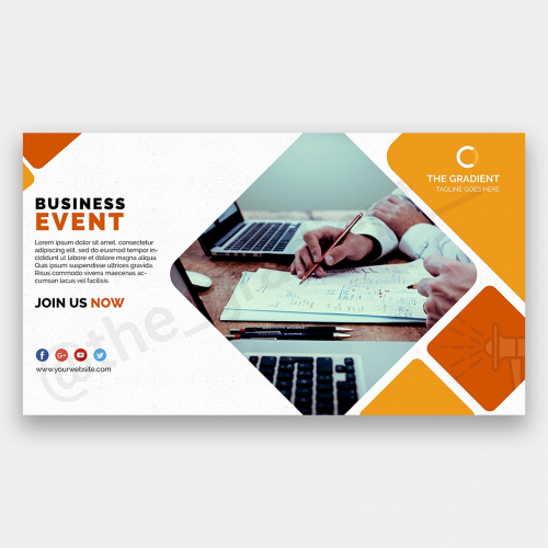 Banner templates for cooperative websites, flyers etc