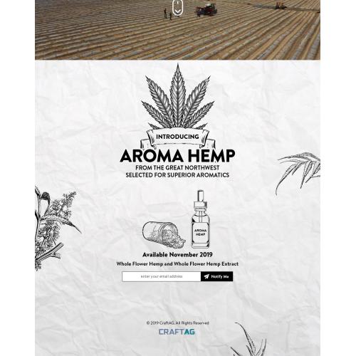 Aroma Hemp Landing Page