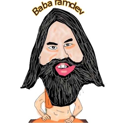 carcaiture of ramdev baba