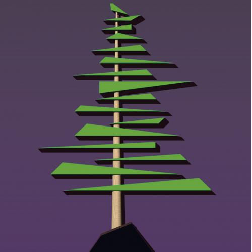 Abstract wood christmas trees