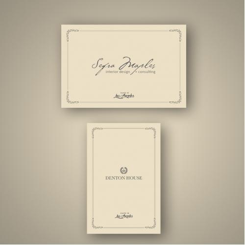 Label design for furniture company