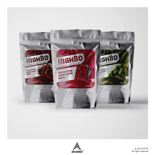 Label design for cannabis based products.