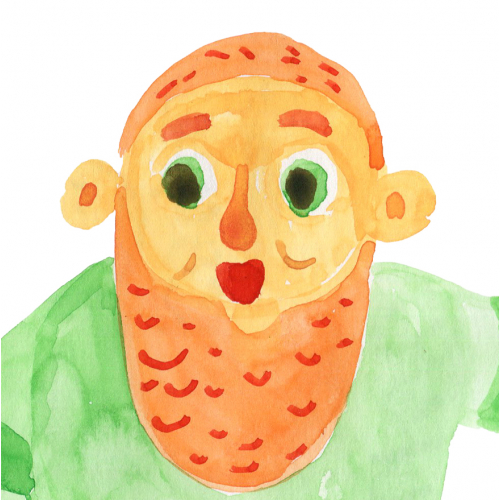 St. Patrick's day watercolor illustrations by hand