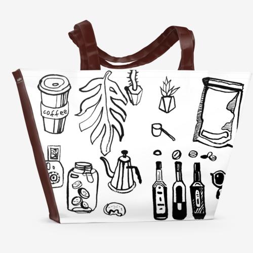 shopper bag shopper bag with hand drawn prints
