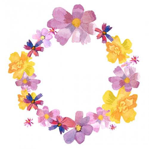 cute flower wreath