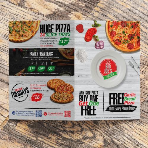Pizza Menu Back