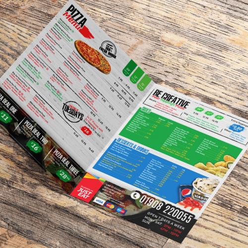 Pizza Menu Inside pages