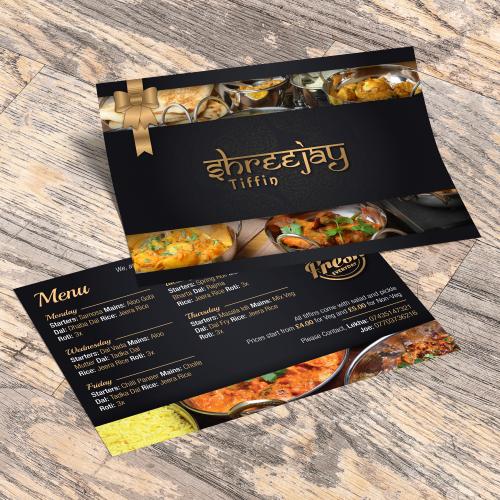 Indian Takeaway Flyer