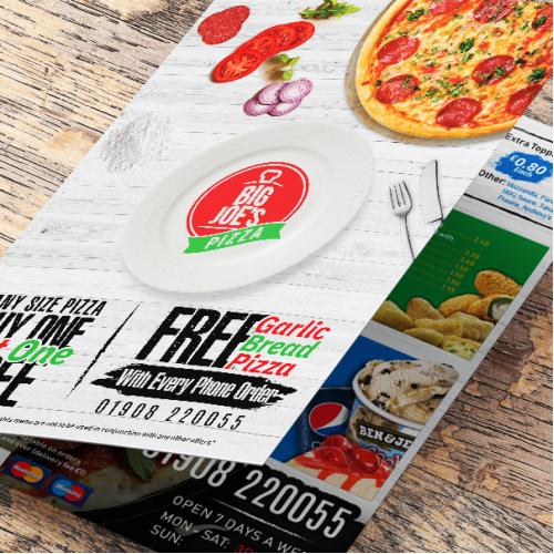 Pizza Menu Front