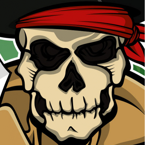 Character design - Muscles the Skull Pirate