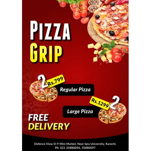 Pizza Menu Card
