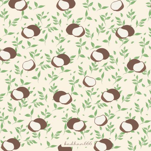 Coconut leaf pattern design.