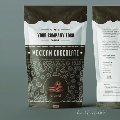 coffee pouch bag design.