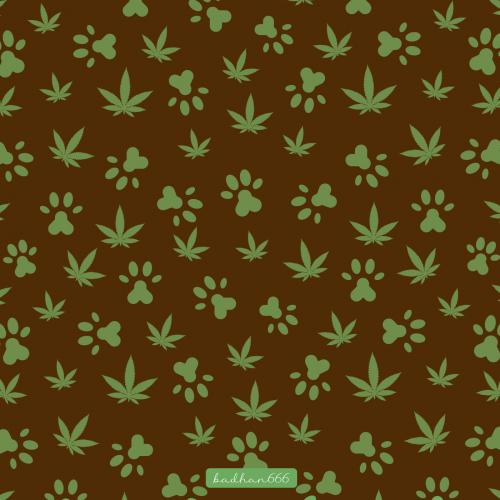 Pet botanical pattern design.