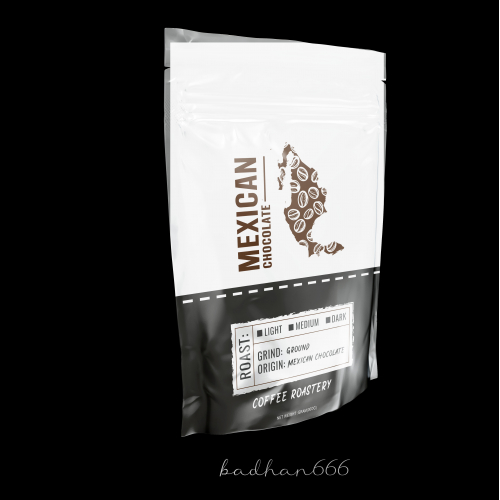 Pouch bag coffee packaging design.