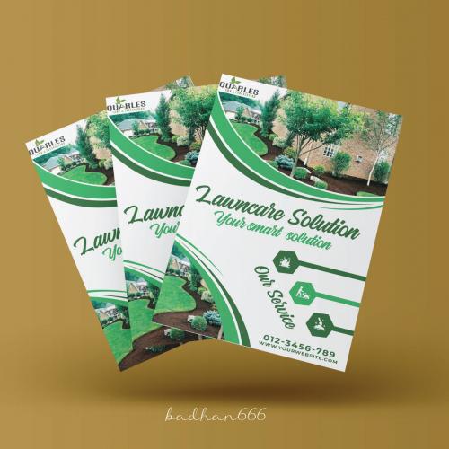 Landscape flyer design.